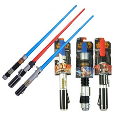 Cheaper Foldable Star Wars telescopic laser sword Star Wars lightsaber  classic toy for kids cosplay Jedi lightsaber scalable weapons