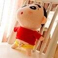 """Envío gratis 1 unids 35 cm = 13.8 """" Naughty Crayon Shin Chan relleno muñeca de Anime japonés Shin Chan figura de acción para el mejor regalo"""