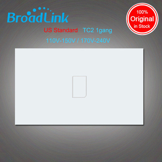 Broadlink tc2, padrão dos eua, 1 gang, smart home automation, mobile app controle remoto sem fio lâmpada de luz interruptor by broadlink rm pro