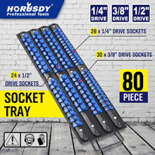 HORUSDY 80 Industrial ABS Socket Wrench Mountable Storage Rail Rack Holder Organize Sliding 1/4 3/8 1/2 Finishing Tool