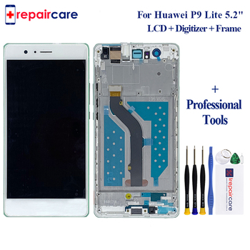 5pcs 100% Original LCD Display For HUAWEI P9 Lite LCD Display Touch Screen for HUAWEI P9 Lite LCD Display Digitizer with Frame