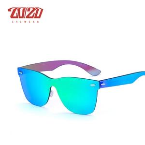 Image 4 - 20/20 Brand Vintage Style Sunglasses Men Flat Lens Rimless Square Frame Women Sun Glasses Oculos Gafas PC1601