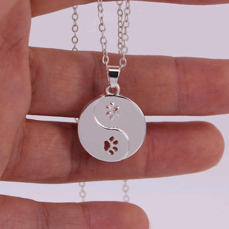 hzew new Bagua map dog and cat paw claw pendant necklace