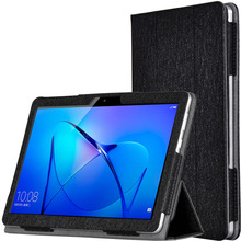 """Nuevo caso elegante Para Huawei MediaPad T3 10 AGS-L09 AGS-L03 9.6 """"Caja de la Tableta de La Manera Patrón de Seda de Cuero de LA PU Plegable Folio cubierta"""
