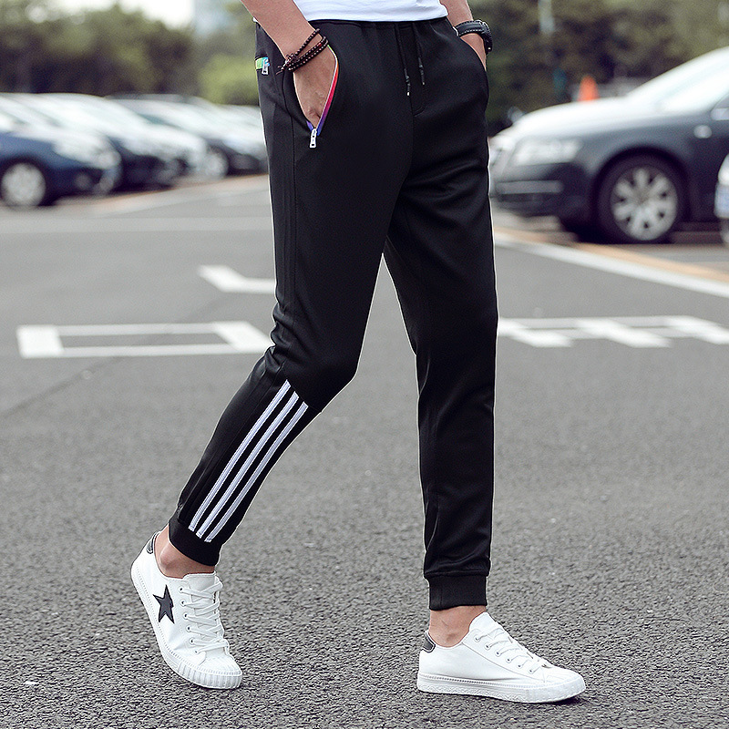Men's stretch casual pants 2021 spring classic brand clothing elastic waist large size men's fashion jogging pants black blue