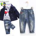 Boy Jeans Kids Girls Winter Jeans Hole 100% Cotton Trousers Children Clothing Baby Casual Boy Pants 2016 Jeans For Girls