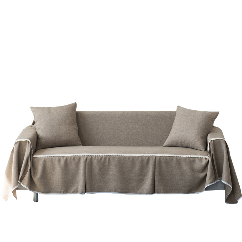 Superb Us 10 51 40 Off Linen Polyester Sofa Cover Towel Slipcover 1 2 3 4 Seat Single Two Three Four Seater Stretch Korean Cover For Couch Sofa In Sofa Download Free Architecture Designs Xaembritishbridgeorg