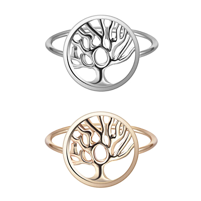 Fashion Design Women For Women Jewelry High Quality Newest Handmade Tree of Life Classic Accessories Rings