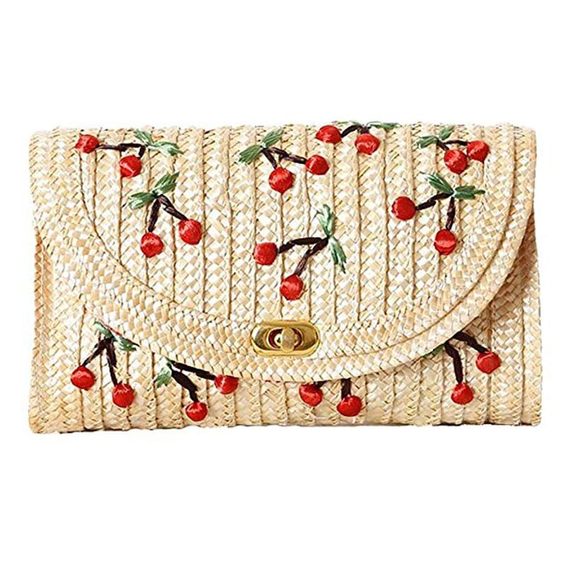 LJL Weave Embroidery Cherry Chain Women Messenger Bags Bohemian Style Mini Women's Messenger Bags- маленькая сумочка messenger bags 2015 messenger bags 520