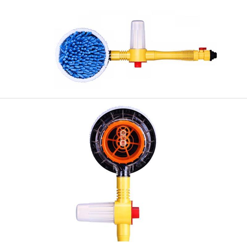 Samochodowy obrotowy szczotka do mycia automatyczne obracanie przełącznik Spray przepływu wody pianki za pomocą rury przedłużającej gorąca sprzedaż
