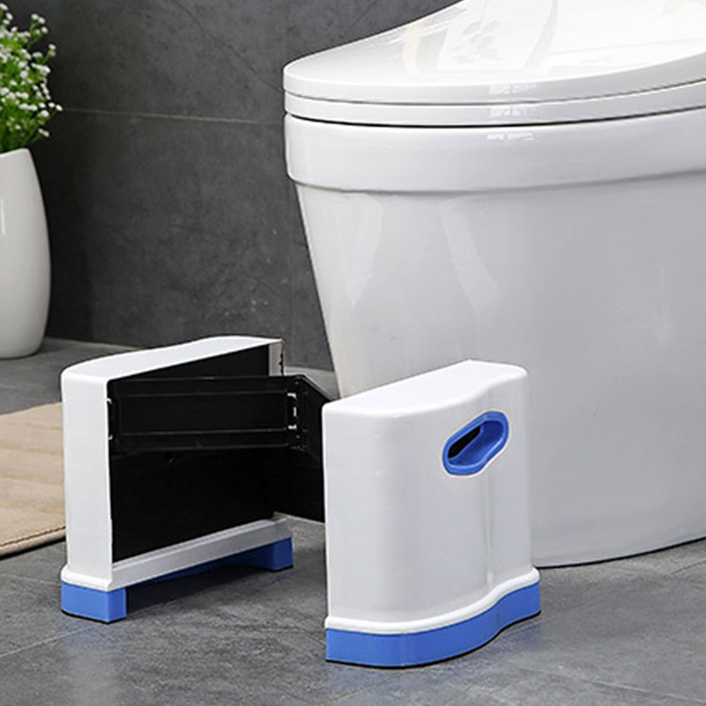 Image 5 - New Qualified Squatty Bathroom Thicken Folding Portable Stools Toilet Stool Step Footstool Piles Relief Aid Safety Folding Stool-in Bathroom Chairs & Stools from Furniture