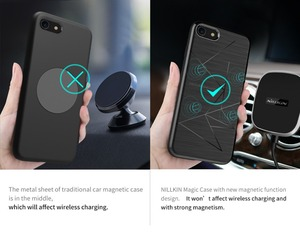 Image 4 - For iphone xs max case Funda iphone xs casing Nillkin Magic Case For iphone 8/8 Plus Qi Wireless Charger Receiver Cover case