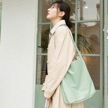 Single Shoulder Artistic Handbag for Girls Leisure Environmental Storage Nylon Reusable
