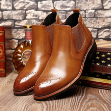 Men's Boots' Casual Round Toe Ankle Chelsea Boots Men Leather Men Winter Shoes hot 2018 Winter Shoes Mens Warmful Snow Boot Mens