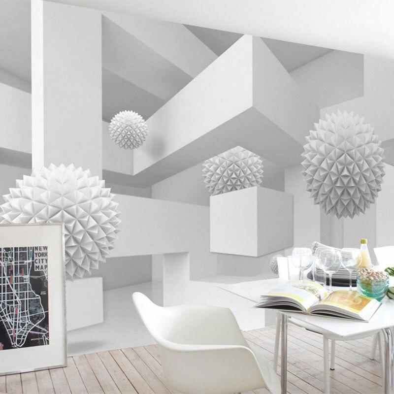 Custom Photo Wallpaper 3d Abstract Art Wall Papers Home Decor Retro Sofa Backdrop 3d Wallpaper
