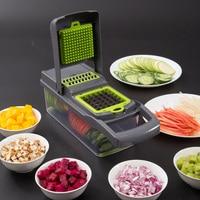 Vegetable Chopper Mandoline Slicer With Big Container Spiralizer Vegetable Slicer Dicer Potato Carrot Grater Kitchen Accessories