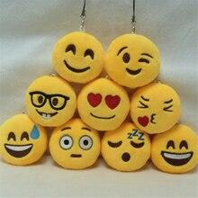 Fashion Cute Emoji Emoticon Smiley/Funny Face Keychain Pendant Key Chain Toy Bag Accessory Holder ring Soft For Woman Man