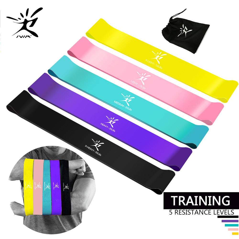 Resistance Bands Elastic Band Loop Set Eco-Friendly Latex for Yoga Pilates Home Fitness Exercise Physical Power and Flexibility