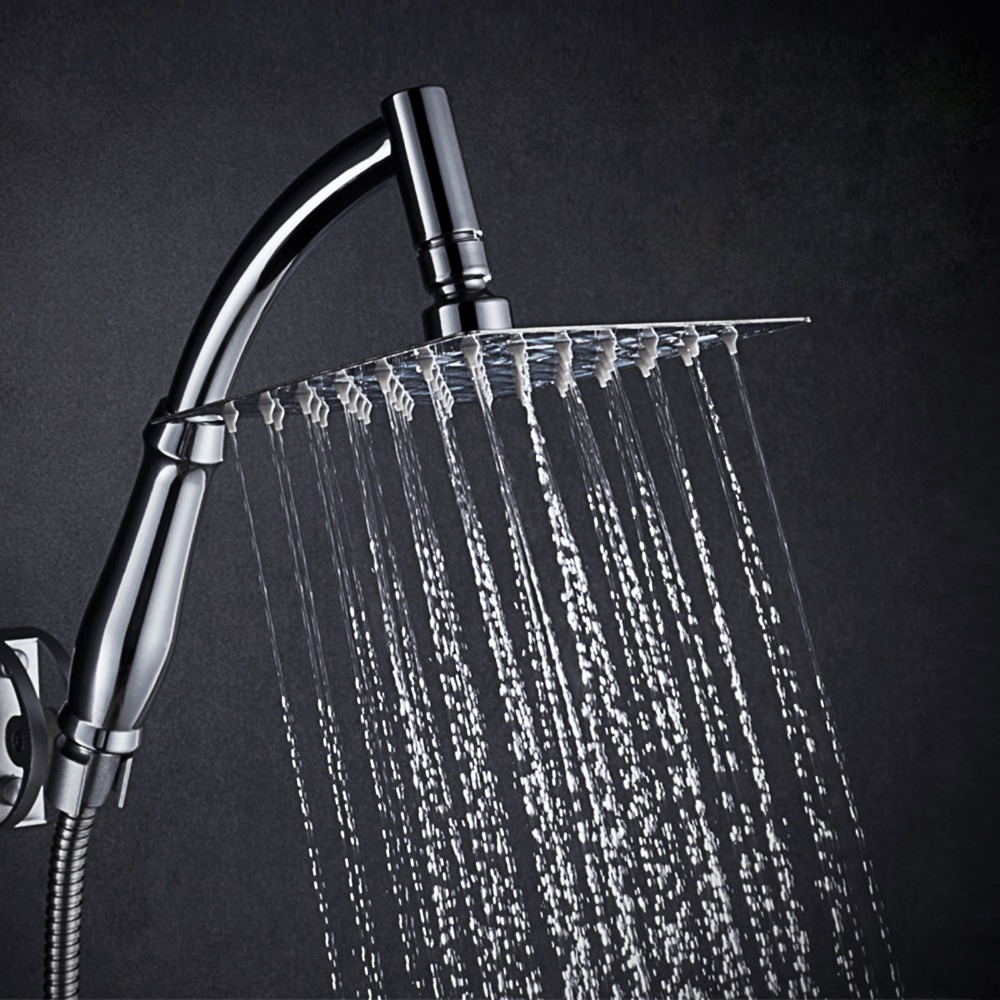 square shower rods