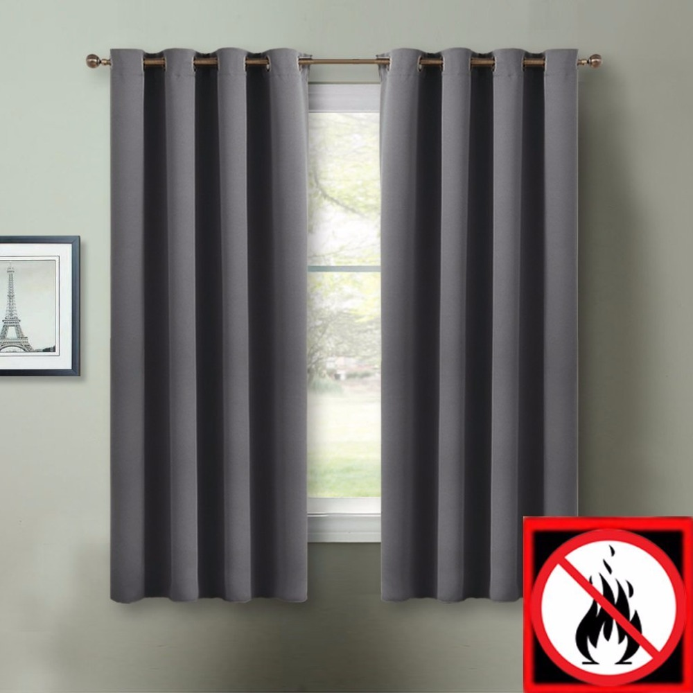 SpringOutdoorEnergy Saving Soundproof Blackout Flame Resistant Curtains For Classroom Hospital By NICETOWNSet Of 2 Panels In From Home