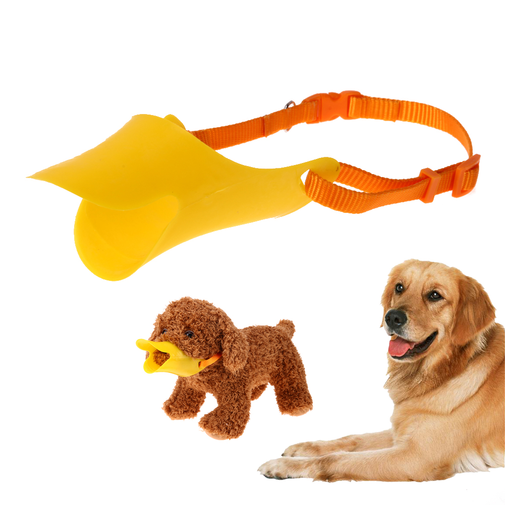 S/L Plastic Dog Muzzle Adjustable Pets Masks No Barking Pets Duckbill Mouth Muzzle for Small Medium Large Dog Pet Products