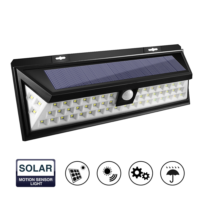 54 LED Solar Light Waterproof PIR Motion Sensor Light Outdoor LED Garden Light 3 Modes Security
