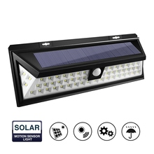 54 LED Solar Light Waterproof PIR Motion Sensor Light Outdoor LED Garden Light 3 Modes Security Emergency Pathway Wall Lamp