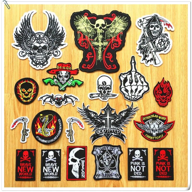 Pcs lot diy punk rock clothes patch patches for clothing