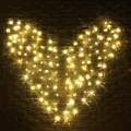 3x1.5m Heart Shape US/EU Plug Colorful Fairy Light 128 LED String Light Curtain Party Wedding Christmas Party Decor Lamp