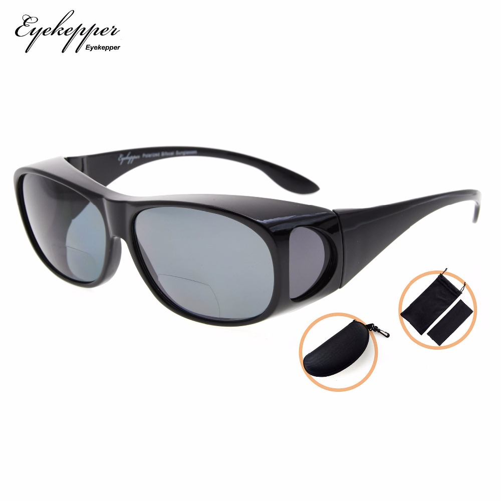 ff4cb7bc86 S029PGSG Eyekepper Fitover Polarized Bifocal Sunglasses To Wear Over  Regular Glasses Polycarbonate Polarised Lens Sunreaders-in Reading Glasses  from Apparel ...