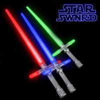 Estrela de Cinema quente Cosplay Guerra Anakin Darth Vader Obi-Wan Sabre De Luz Levou Brinquedo Guerra Estrela Dos Desenhos Animados Ao Ar Livre Som Luminosa arma Brinquedos