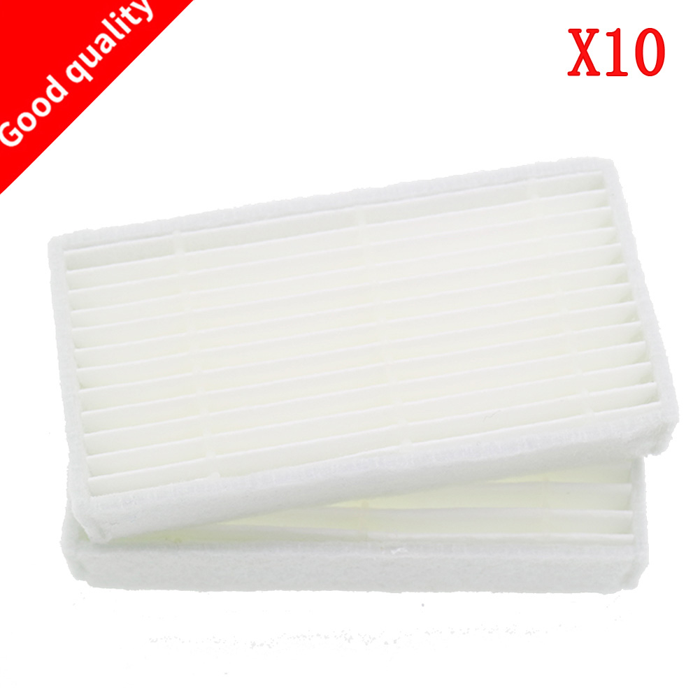 10 Pieces/lot Robot Vacuum Cleaner HEPA Filter Replacement For Chuwi Ilife V1 Robotisc Vacuum For Cleaner Ilife V1 V55 V50