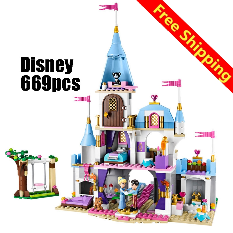 [ZXZ]Compatible Legoe 41055 Girl Friends Kids Legoing 79279 blocks Cinderellas Romantic Castle building blocks toys for children