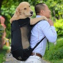Дышащая Сумка-переноска для собак для больших собак золотой ретривер рюкзак с изображением бульдога Регулируемая большая собака дорожные сумки товары для домашних животных