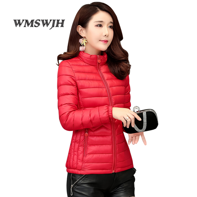 Thin Cotton Jacket Short Tops Winter Jacket Women Coat Korean Slim Plus size Female Parka Coat Wave pattern Padded Jacket