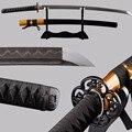 Мечи Полный Тан японский острый меч катана сложенная стальная ГЛИНА ЗАКАЛЕННОЕ лезвие Espada Cuttig практика меч металл украшение дома