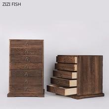 Многослойная коробка для хранения из цельного дерева подарочные коробки Пуэр Чайная коллекция деревянная коробка для чая коробка для хранения ювелирных изделий s kit