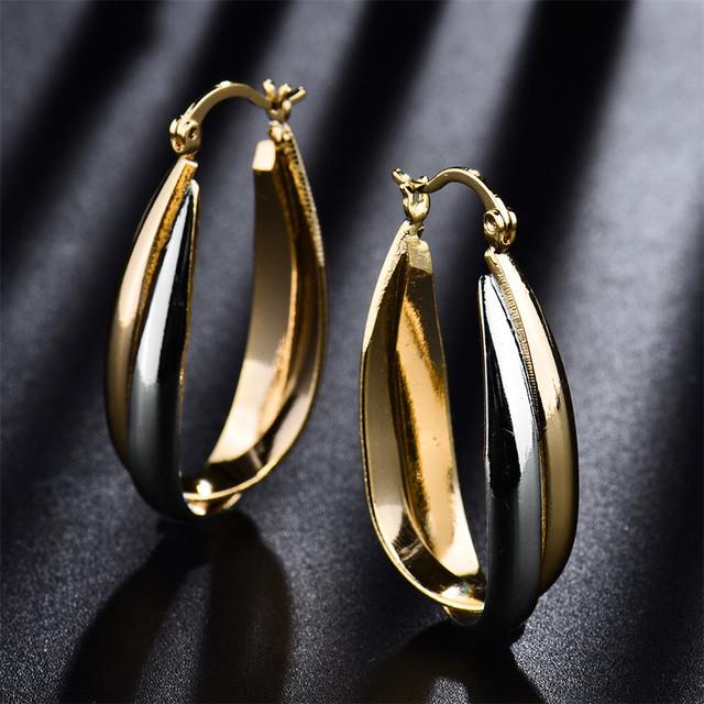 Double Weaved Metal Hoop Earrings