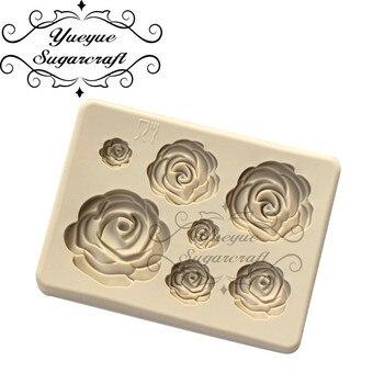 Rose Flower Silicone Mold Fondant Mold Cake