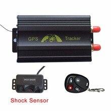 Z Czujnikiem Wstrząsów System GPS Tracker TK103B Samochodów, GPS i GSM w czasie Rzeczywistym Podwójne Lokalizacji, Pilot Zdalnego Sterowania Anti-Theft Pojazdu Tracker