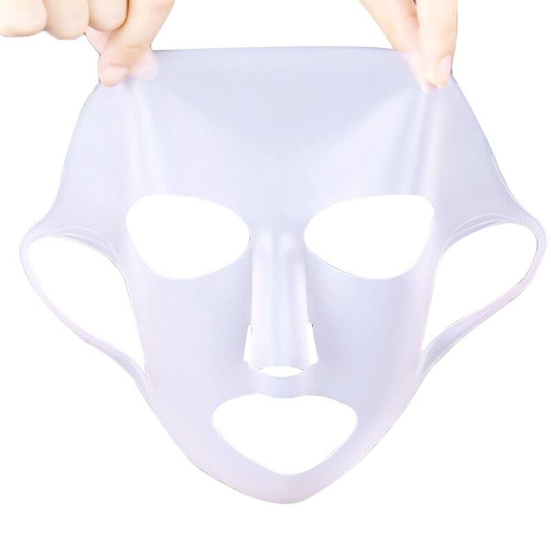 EFERO Silicone Unisex Rosto Capa Máscara Prevent Máscara Máscara de Folha De Velocidade de Evaporação Essência Hidratante Rosto Reutilizável Máscaras