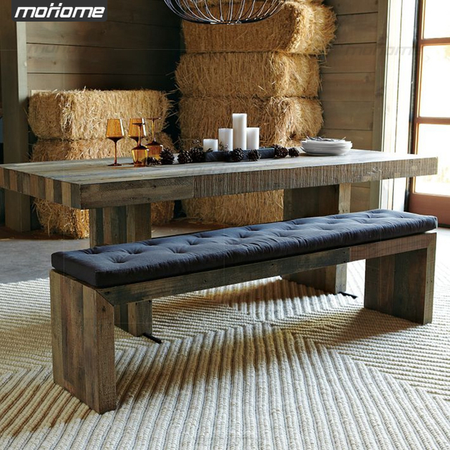 Nordic American Minimalist All Wood Bench Ikea Creative Home Thicken Elm Special Character Customization
