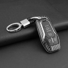 New Key Case Carbon Fiber Style Plastic Protection For Ford Fusion Explorer Mustang Edge MKZ MKC MKX Key Case Cover(China)