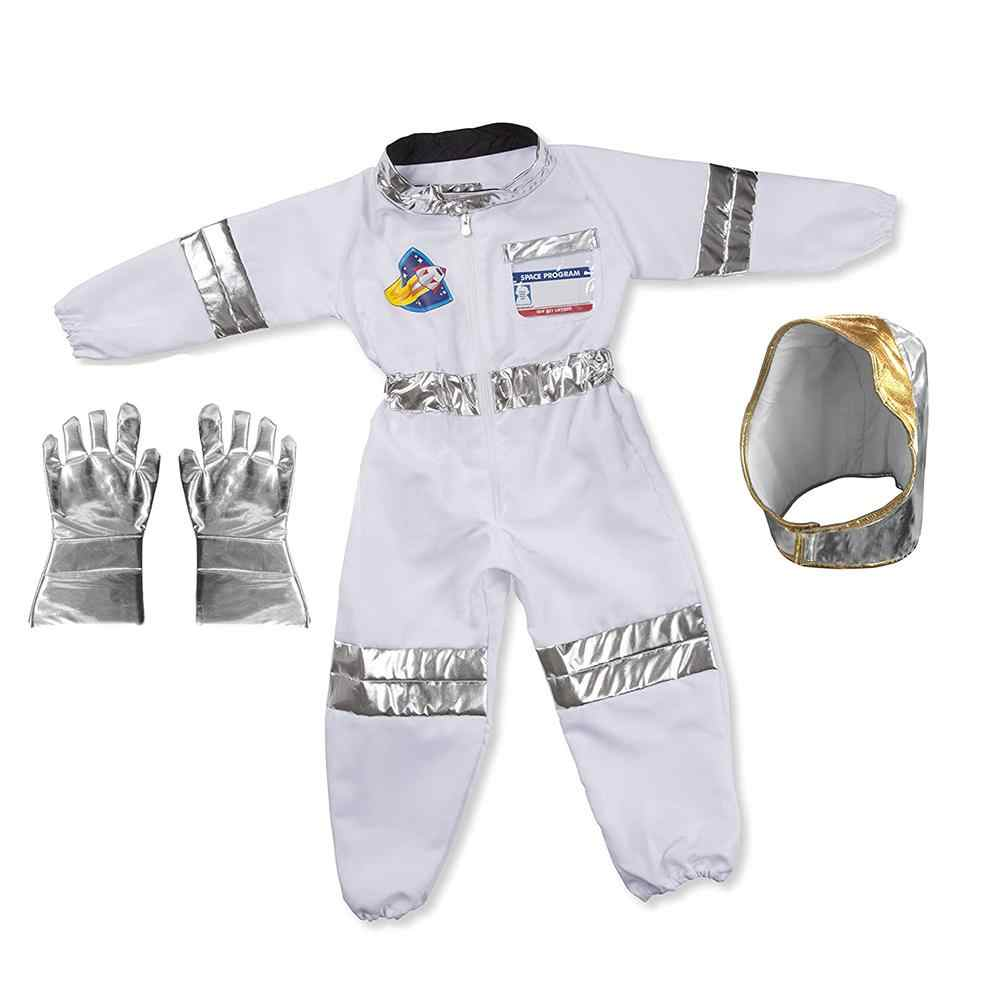 One Set Children's Cool Astronaut Costume Role Play Holiday Costume Halloween Carnival Cosplay Suit Boys Stage Show Rocket Man
