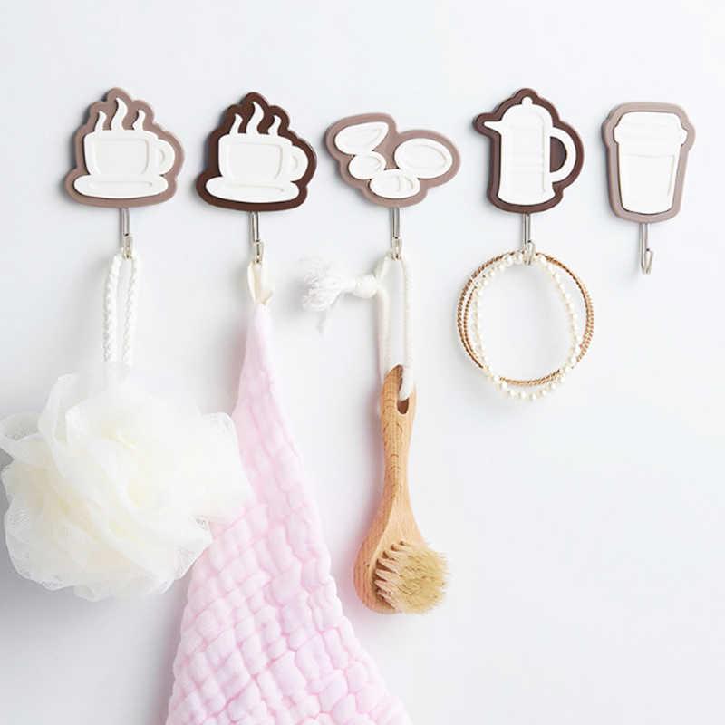Кофейные бобы крюк сильная присоска настенные петли подвесные самоклеющиеся двери полотенца держатель крюк кухня ванная комната