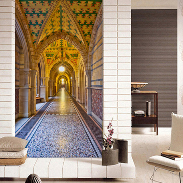 Custom 3D Wallpaper For Walls Church Building Mural European Wallpaper  Porch Bedroom Hallway Hotel TV Background