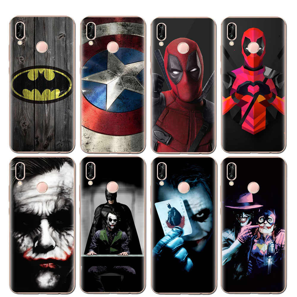 Soft TPU Phone Case For Huawei P10 P20 Pro P9 P8 Lite Mate 10 Pro Y5 Y6 II Y7 2017 Honor 9 10 Lite 6X 7X Clown Joker Cool Cover