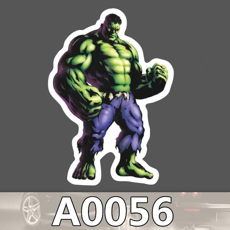Bevle A0056 Marvel Super Hero Hulk Waterproof Sticker for Cars Laptop Luggage Skateboard Graffiti Cartoon Notebook Stickers