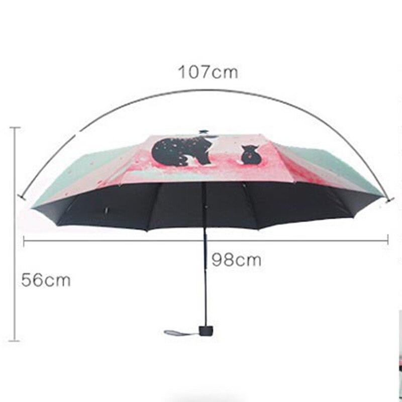 YADA Cats pattern Charms Folding Umbrella Rain Women uv High Quality Umbrella For Womens brand Windproof Custom Umbrellas YS162 in Umbrellas from Home Garden