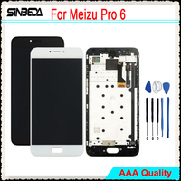 5.2Sinbeda For MEIZU Pro 6 LCD Display Touch Screen with Frame Digitizer Assembly For MEIZU Pro 6 Display For Meizu pro6 LCD #
